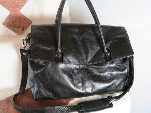 Catwalk Laptoptas zwart-zilver Leer