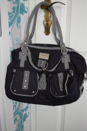 Catwalk Handtasche, schwarz grau, mit Zusatztaschen
