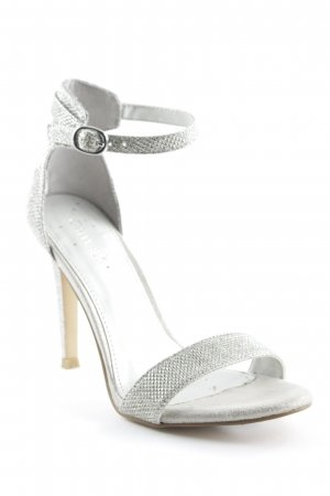 Catwalk High Heel Sandal silver-colored elegant