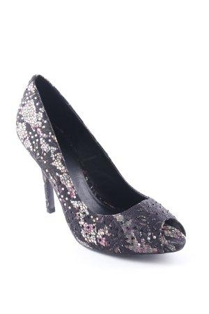 Catwalk High Heels schwarz-rosa Elegant