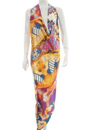 Catwalk One-Shoulder-Kleid abstraktes Muster Casual-Look