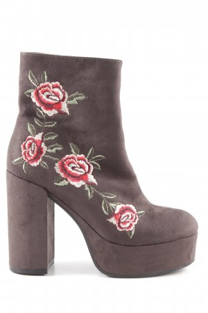 Catwalk Platform Booties flower pattern elegant