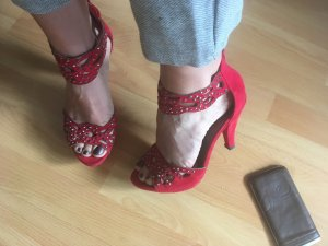 Catwalk Sandaletten High heels in 38 rot