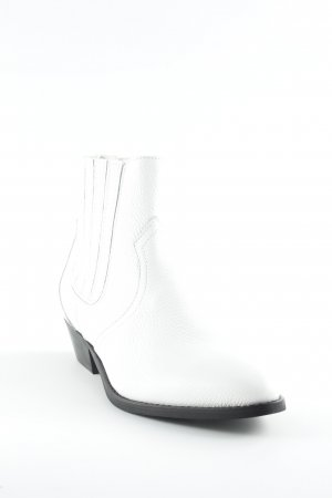 Catwalk Stivaletto slip-on bianco stile stravagante