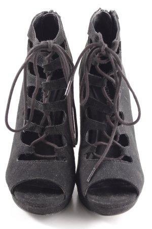 Catwalk Lace-up Pumps black elegant