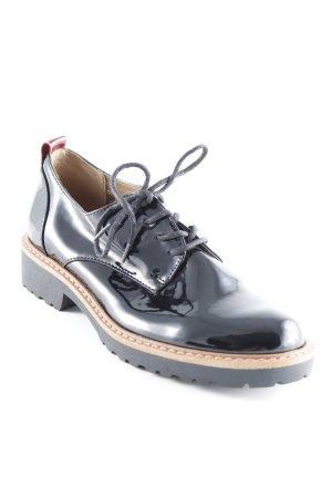 Catwalk Schnürschuhe schwarz Brit-Look