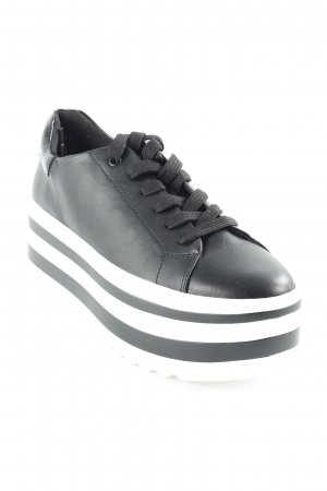 Catwalk Schnürsneaker weiß-schwarz Streifenmuster Street-Fashion-Look
