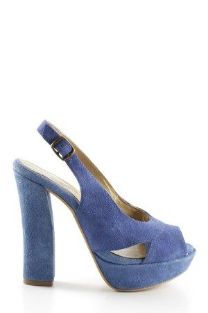 Catwalk Tacones sin talón azul look casual