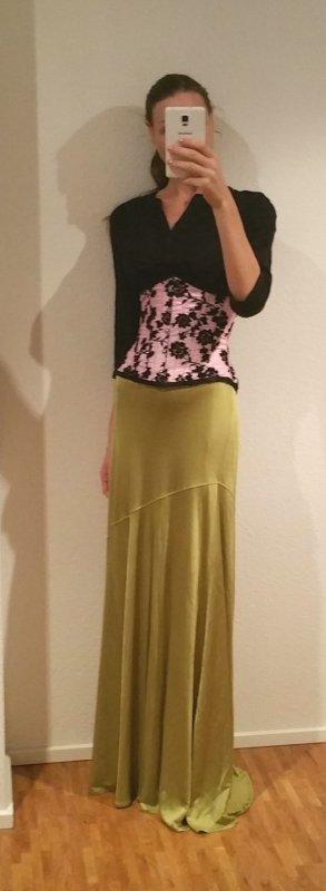 Cavalli Maxi Skirt meadow green
