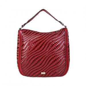 Cavalli Shopper rouge carmin-bordeau