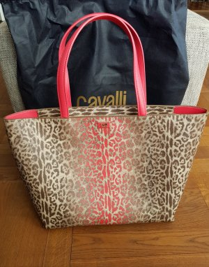 Cavalli Class, Tote Bag #colorleo 03, Braun/Pink