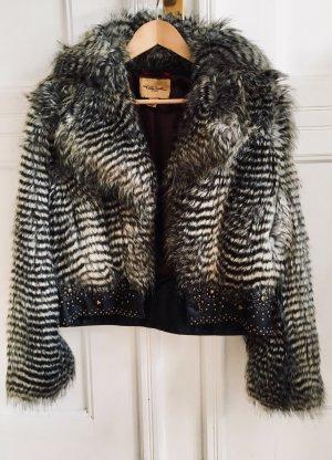 Cavalli Fake Fur Jacket multicolored