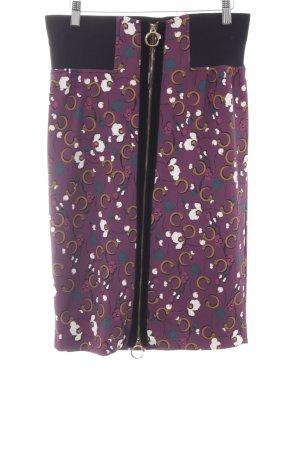 Cavalli Midi Skirt allover print extravagant style