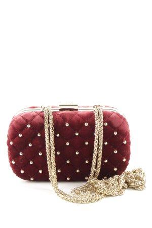 Cavalli Minitasche rot-goldfarben grafisches Muster Elegant