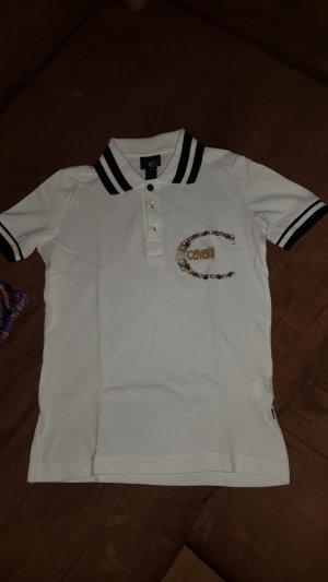 Cavalli Polo Shirt white-black