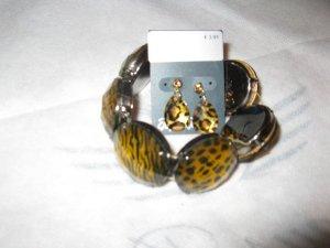 Cavalli Style, made in Italy -Armband + passende Ohrringe als Geschenk dazu