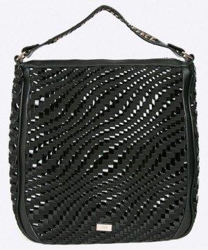 Cavalli Tasche NEU mit Etikett Shopper geflochten schwarz