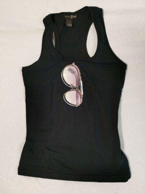 Cavalli Top in schwarz mit Print Gr. M