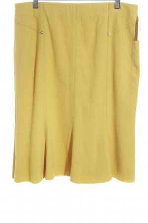 Cavita Godet Skirt dark yellow elegant
