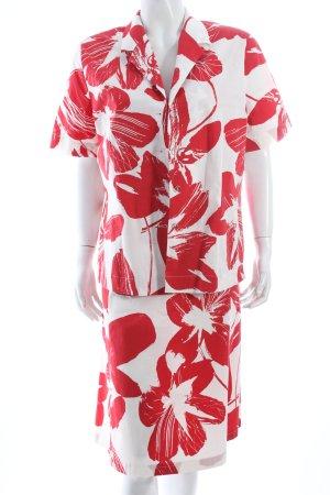 Cavita Kleid weiß-ziegelrot Blumenmuster Casual-Look