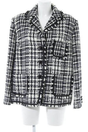 Cavita Knitted Blazer white-black abstract pattern classic style