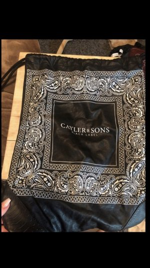 Cayler & Sons Sac à dos pour ordinateur portable noir-blanc