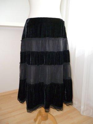 CCDK Rock aus Samt in Midilänge, schwarz