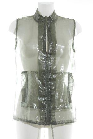 CCDK Transparenz-Bluse waldgrün Casual-Look