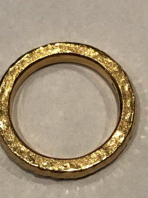 CD Ring Oberfläche matt, Feingold Reinheitsgrad von 999 Promille oder 24 Karat, Handarbeit, Gewicht 12 Gramm