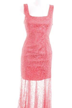 CeCe Vestido de tubo rosa Apariencia de encaje