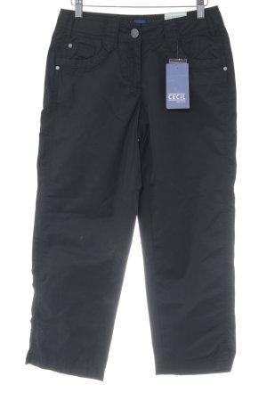 Cecil 3/4-broek zwart casual uitstraling