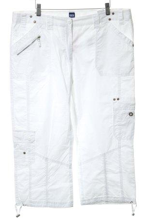 Cecil Pantalone a 3/4 bianco stile casual