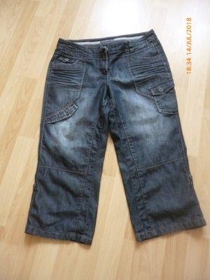 Cecil Jeans 3/4 bleu foncé coton