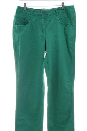 Cecil Pantalón tobillero verde look Street-Style