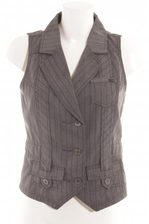 Cecil Waistcoat grey-black striped pattern casual look