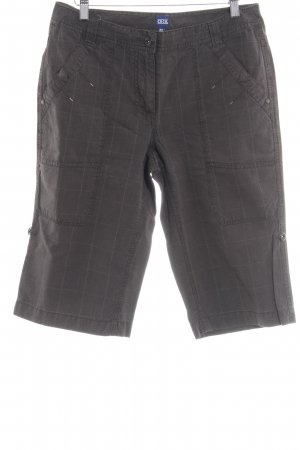 Cecil Bermudas grey brown check pattern casual look