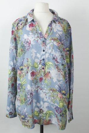 Cecil Bluse Gr. XL blau rosa Blumen