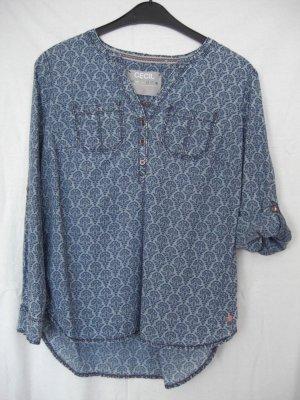 Cecil Bluse Jeansoptik blau
