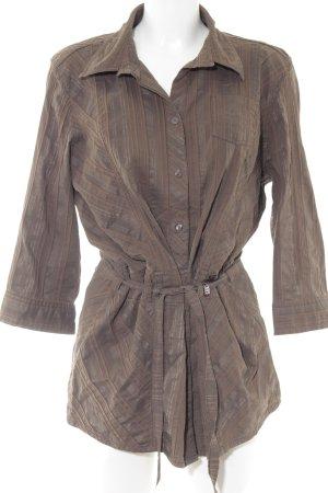 Cecil Abito blusa marrone-grigio motivo a righe stile casual