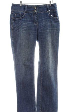 Cecil Boot Cut Jeans stahlblau Casual-Look