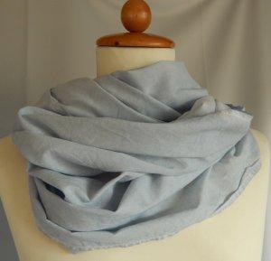 Cecil, breiter Loop-Schal, oil-wash Effekt, hellblau, Baumwolle-Viskose