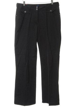 Cecil Pantalone a pieghe nero-grigio gessato stile casual