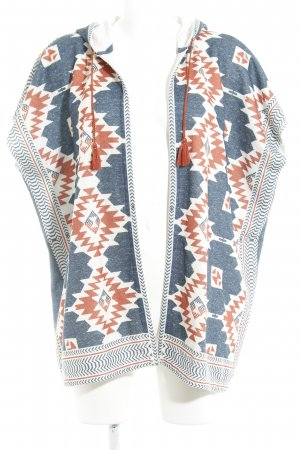 Cecil Cape slate-gray-russet Aztec pattern Boho look
