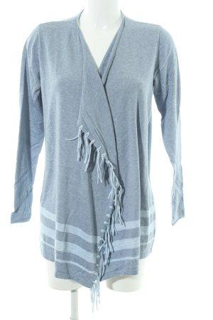 Cecil Cardigan azzurro-grigio ardesia motivo a righe stile casual