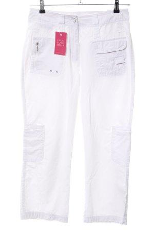 Cecil Pantalone cargo bianco stile casual