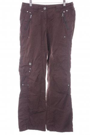 Cecil Cargo Pants dark brown-baby blue skater style