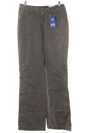 Cecil Cargo Pants khaki metallic look
