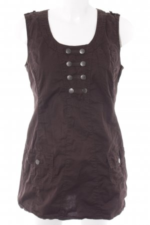 Cecil Cargo Dress dark brown casual look
