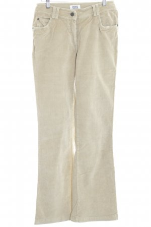 Cecil Corduroy Trousers cream casual look