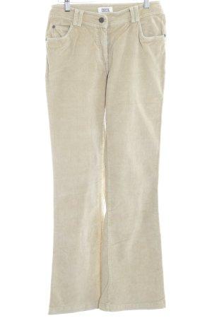 Cecil Pantalone di velluto a coste crema stile casual